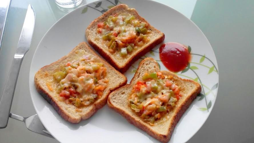 Veggie Bread Toast - Andhrachef.com